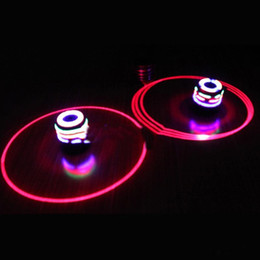 Wholesale Wood Spinning Tops - Colorful Light Music Gyro Peg-Top Spinning Tops Kids Children Imitation Wood Gyro Colorful Lights Plus Laser Flash Music Top Gift