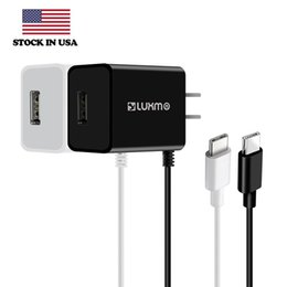 Wholesale Custom Usb Cables - Type C Wall Charger 2.1A USB Type-C Charging Traveling Portable with Attached Cable for Samsung Galaxy S9 S8 Plus Huawei Phone