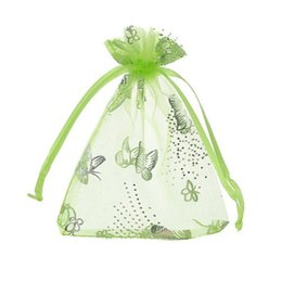 100 PCS / LOT APPLE GREEN Organza Cadeau De Fête De Mariage Décoration Cadeau PAPILLON Sacs Pochettes ? partir de fabricateur