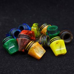 Argentina venta al por mayor mtl boquilla de punta resina 810 epoxi boquilla con doble anillo para tfv8 tfv12 atomizador vape accesorio con caja Suministro