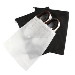 2019 deposito di scarti di polvere Scarpe non tessute Borse con coulisse Borsa da viaggio per il viaggio Scarpe Tote antipolvere Zaini bianchi neri C4583 deposito di scarti di polvere economici