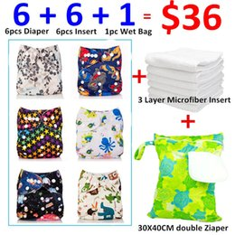 Wholesale Diaper Gauze - Wholesale-[Mumsbest] 13pcs lot 2016 Best Sale Baby Products Washable Pocket Cloth Diaper New Designs Set Packing with Insert and Wet bag