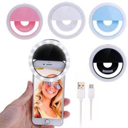 RK12 Rechargeable Selfie Ring Light avec appareil photo LED Flash Flash Light Selfie Anneau lumineux avec câble USB universel pour tous les téléphones ? partir de fabricateur