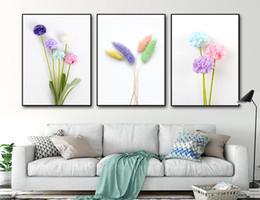 2019 manifesti fiore rosa Stampe nordiche e poster senza cornice tela pittura blu rosa fiore viola soggiorno casa decorativa immagine arte della parete sconti manifesti fiore rosa
