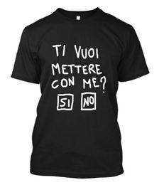 Felicidade negra on-line-Nova TI VUOI METTERE CON ME Bianco A Felicidade Tem A Minha T-Shirt Preta S-5XL