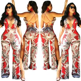9a3ab3ad5747 China Sexy Floral Printed Jumpsuit for Ladies 2018 Hot New V-neck Back Bind  Open