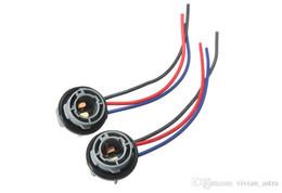 Wholesale Headlight Connector - 2PCS 10cm 1157 2057 2357 BAY15D Car Lamp Socket Adapter Connector Harness Wiring For Car Auto Turn Signal Headlight Light Bulb