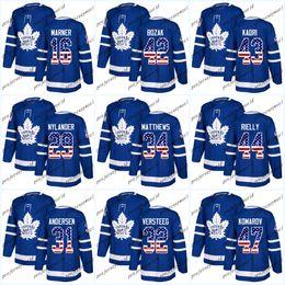 3981ac768d2 USA Flag Stitched Toronto Maple Leafs Frederik Andersen Morgan Rielly  Mitchell Marner Auston Matthews Tyler Bozak Nazem Kadri Hockey Jersey