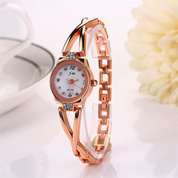 Wholesale Lady Beautiful Watch - Watch Women Clock New Girl Bracelet Watch Quartz OL Ladies Alloy Wrist Noble Elegant Beautiful Comfortable Temperament C5