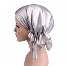 Wholesale Bonnet Pink - 2017 New Women Hats Bonnets Women's Beanies Hats Stain Sleeping Long Tail Shower Caps Bandana Hair Cover Chemotherapy