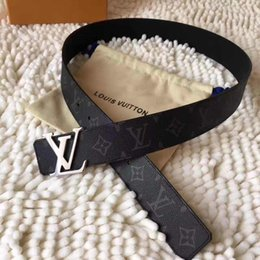 Wholesale Unisex Jeans Brands - 2017 men's Luxury Buckle Belt mens smooth buckle leather belts male high quality designer Brand ceinture mens Luxury belt Jeans 32-40in