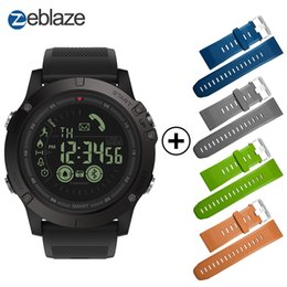 Wholesale rugged android - Hot Zeblaze VIBE 3 Flagship Red Smartwatch 33-month Standby Time 24h All-Weather Monitoring Smart Watch For IOS And Android