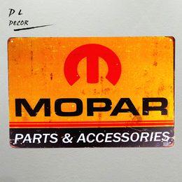 "Wholesale metal decor autos - Metal Tin signs ""Mopar Parts"" Metal Craft Garage Auto Shop Man Cave Wall Decor"