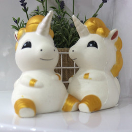 Wholesale horse ornaments - New Pattern Squishy Unicorn Horse Venting Decompression Toy Foamed Toys Slow Rebound Squeeze Soft Squishies Ornament Gift 14fd W