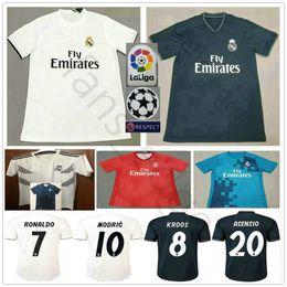 de75500fe 2018 2019 Real Madrid Soccer Jerseys MODRIC RONALDO BALE ISCO ASENSIO KROOS  RAMOS VARANE MARCELO Custom Home Away Third 18 19 Football Shirt