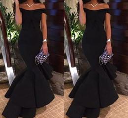 a3258296a1ac vestiti eleganti di promenade neri eleganti Sconti 2018 Semplice elegante  nero al largo della sirena Prom