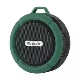 Wholesale Free Bass Sounds - C6 Portable Bluetooth Wireless Subwoofer Bass Waterproof IP65 Speaker With MIC TF Card Hands free call For bluetooth Devices