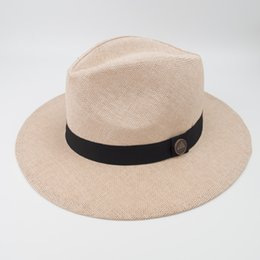 02ebeadbe878c Unisex Paper Straw Panama hat Cool Breathing Fashion Fedora Hats for Summer  Beach Holiday Classic and Vintage TOP Style Hat EPU-MH1816