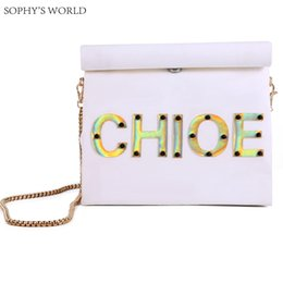 metallic paper rolls Promo Codes - Customized Letters Women's Handbag Personality Bag Kraft Paper Runway Clutch Bag Chains Shoulder Roll Rim Party Purse