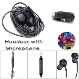 Wholesale volume microphone - For S8 in-ear Stereo Earphone Mic Volume Control Low Bass Noise Isolating Earphone Earbuds for Samsung galaxy S8 S9