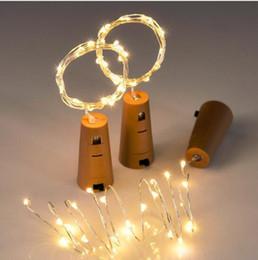 2019 светильники 2 м 20LED лампа пробка в форме бутылки пробка светлое стекло вино привело провода фея строка огни бар партия поставки свадебные украшения дешево светильники