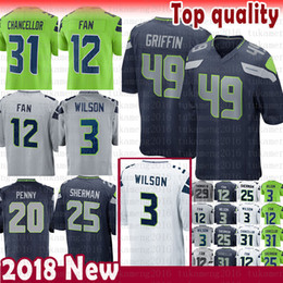 4e6d75d56 jerseys seattle Coupons - 49 Shaquem Griffin 3 Russell Wilson Seattle  Seahawks Jersey 12s 12th Fan