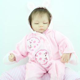 Wholesale Girl Magnets - Simulation Baby Doll Girl Gift Models Lovely Lifelike Soft Glue Character Plastic Rabbit Magnet Nipple Pillow
