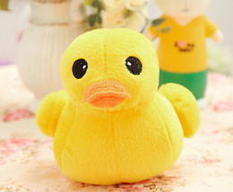 Giallo peluche giallo online-5Pcs Hot 12cm Giant Large Big Yellow duck Peluche Peluche Morbido Bambola