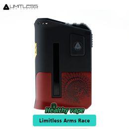 Wholesale Racing Metal - Limitless Arms Race Mod 200W LMC TC Box Mod Dual 18650 Series SetupLimitless Arms Race II Vape Box Mod 100% Original