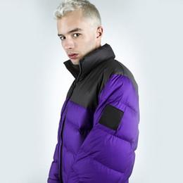 Chaquetas de plumas moradas online-Nuptse Down Jacket High Street Hip Hop Hombres y Mujeres Parejas Amarillo Negro Púrpura Nudo Rope Down Jacket HFSSYRF005