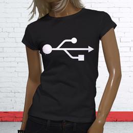 Teknoloji İndir Flash Sürücü Bilgisayar USB Memory Stick Womens Siyah Tişört nereden usb flash stickler tedarikçiler