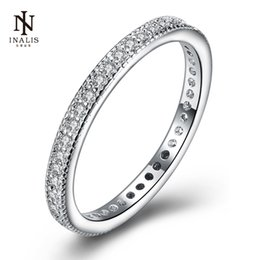 Wholesale Simple Rings For Girls - whole saleINALIS Simple Style Elegant Temperament Ring Inlaid Zircon Cost-effective Silver Plated Rings For Women Girl Jewelry