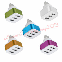 Wholesale usb expansion - 3 Port Hub Splitter alloy single usb to 3 usb extra ports usb charger for mobile phone netbook desktop Expansion