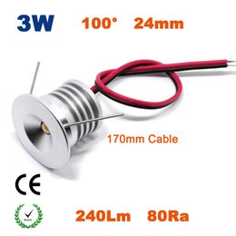 Wholesale Power Led Blue Spot Lights - GS UL 3W 23mm Led Down lighting Epister 240Lm 80Ra Led Spot Ceiling Light With Mini Driver Transformer Power Supply