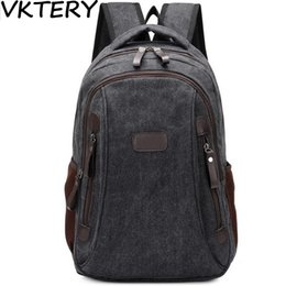 south korean style backpacks Promo Codes - 2016 men canvas daily trips equipment notebook south Korean style fashion youth backpack bag