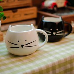 Wholesale Nice Coffee - 1pcs Novelty Cute Cat Animal Milk Mug Ceramic Creative Coffee Porcelain Tea Cup Nice Gifts