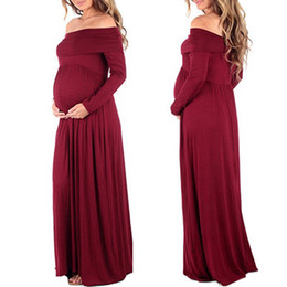 Deutschland Mutterschaft Maxi Kleider 2018 Mutterschaft Fotografie Requisiten Chiffon Vestidos Off Schultern Maxi schwanger Kleid Schwangerschaft Foto-Shooting Versorgung