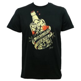 4354662ba76932 Summer 2018 Famous Brand SAILOR JERRY Tattoo Sailor's Grave Rum Bottle Black  Slim Fit T-Shirt S-2XL NEW Hipster O-neck cool tops