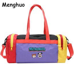 Menghuo Cartoon Travel Bag Women Duffle Bag Nylon Waterproof Colorful  Packing New Travel Handbag Weekend Luggage Tote Sac 1d3bcda613d00
