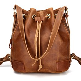 3d1804610c18 Women brown Backpack High Quality Genuine Leather Preppy Style bag School  Backpacks For Teenage Girls Female Girlfriend gift bag