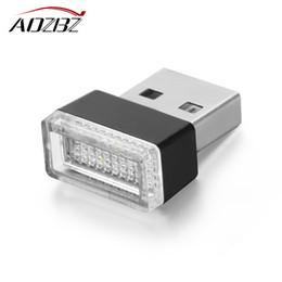 Mini USB Luz Noturna LED Cigarro Isqueiro Interior Do Carro Atmosfera Luz Pés Decoração Da Lâmpada de Iluminação de