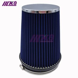 Wholesale Intake Kits - New Universal Kits Auto Air Intake 140mm High flow Mushroom Air Filter Reuseable Fuel Economy Free shipping K8-8004D