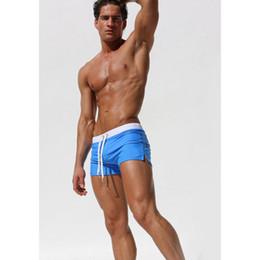 Wholesale zip brief - Solid Leisure Men Beach Shorts Beach Pants Swimwear Briefs Swim Suits Boxer Shorts Men's Back Zip Pocket Trunks T0072
