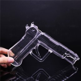 gun water bong Promo Codes - Oil Burner Water Bong Glass Tobacco Bong 7 inches Looks Gun Shape Special Glass Bongs Smoking Pipe Inline Perc Hand Glass Pipes