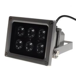 Canada Illuminateur infrarouge lampe de vision nocturne pour caméra de vidéosurveillance 45 ° 60 ° 90 ° Epistar 6pcs LED IP65 gris couleur AC 85-265 Volt meilleur prix cheap cctv vision color Offre