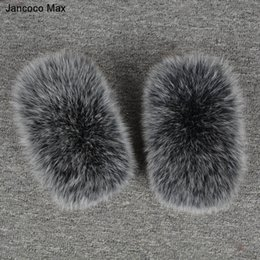 Wholesale Ring Jackets - Jancoco Max Winter 2017 Women Real Fox Fur Sleeve Cuffs Wrist Ring Raccoon Fur Cuffs For Fashion Parka Coat Jackets Luxury S7231