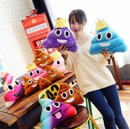 copertine di cuscino di stampa zebra Sconti Emoji giocattoli peluche 25-35 cm Dung QQ Expression peluche cuscino giocattoli di peluche giocattoli creativi aspetto divertente regalo di compleanno cuscino decorativo I421