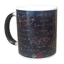 Calor Revelar Fórmulas Matemáticas de Copo de Água Cerâmica Caneca de Café de Impressão 350 ml Moda Legal Imprimir Copo de Café Venda Quente Casa Suprimentos de Fornecedores de projeto do pacote do copo