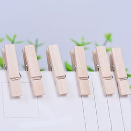 Lavanderia clip on-line-50X Mini Pregadores de Roupa De Madeira Lavanderia Foto Papel Peg Clip Clothes Pins Clipes de Arte Artesanato