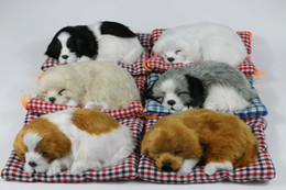 Encantador perro que duerme realista en la alfombra artificial de seis colores de piel tienen sonido (tamaño pequeño) desde fabricantes
